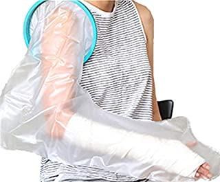 Adult Shower Full Arm Cast Cover for Bath, Waterproof Bandage Protector Bath Watertight Protection to Hands, Wrists, Fingers Wounds Burns, Reusable & Lightweight