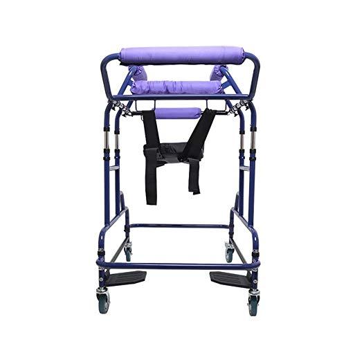 Multifunción plegable unidad sanitaria YC2100 andador con asiento acolchado, cuatro ruedas de coches caminadores para mayores RVTYR