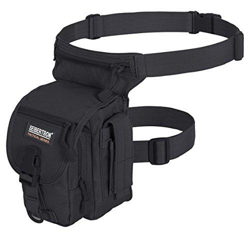 Seibertron Waterproof Tactical Outdoor Hiking Airsoft Utility Leg Bag Black