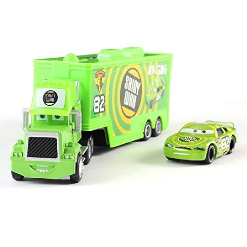 Pixar Cars 2 Cars 3 Mack Trucks + Small Car McQueen 01:55 Gegoten metaallegering Plastic Modle Car Toys Cadeaus for kinderen (Color : 11)