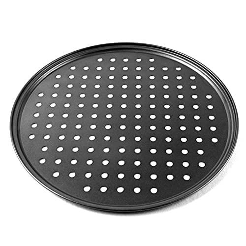 Baking Sheet Pizza Carbon Steel Non-stick Pizza Baking Pan Round Mesh Pan Pizza Baking Tray Plate (Color : 32cm)