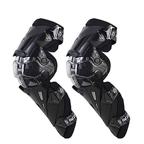XJLJ Rodilleras Rodilla cómoda Pads Ajustable Largo Manga de la Pierna del Engranaje CrashProof Antideslizante Protectora Espinilleras Collision Avoidance (Color : Black)