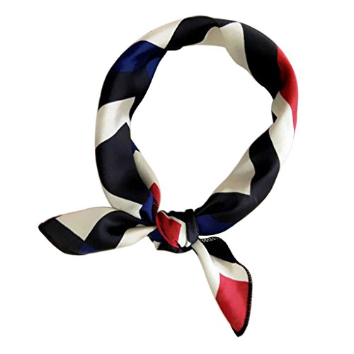 vivianu Damen Satin-Schal, quadratisch, quadratisch, elegantes Design 27# Sqaure+navy