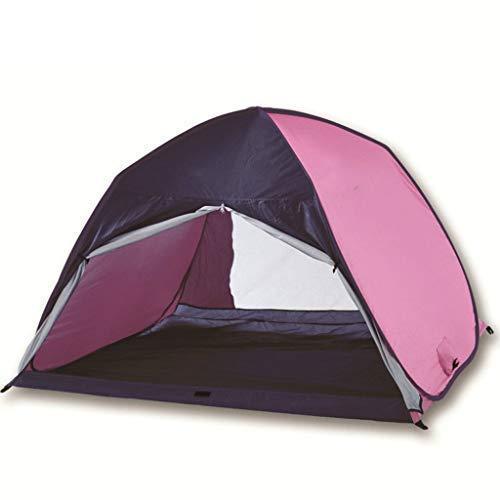 Tienda de la Playa, Playa Carpa Plus Sombrilla Sun Refugio Cabana automática Pop Up Cortina de Sun de la Tienda Portable Que acampa yendo automática Camping (Color: Morado) kshu (Color : Purple)