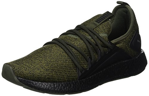 Puma NRGY NEKO KNIT, Herren Laufschuhe, Grün (FOREST NIGHT-PUMA BLACK 02), 40.5 EU (7 UK)