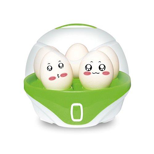 GAYBJ Multifunktionale Elektro Eier Kocher Cooker Steamer Für bis zu 6 Eier Home Küche 220V 150W,Grün