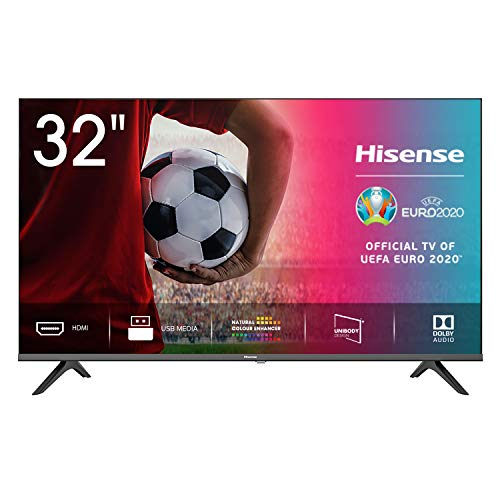 Hisense 32AE5000F - TV, Resolución HD, Natural Color Enhancer, Dolby Audio, HDMI, USB, Salida auriculares, TV HD 2020, 32