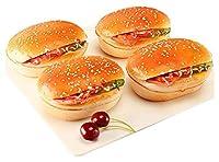フードプロップ現実的な偽物 人工的な偽のパン、リアルなシミュレーションフードの小道具、ホームキッチンハロウィーン、5ピース