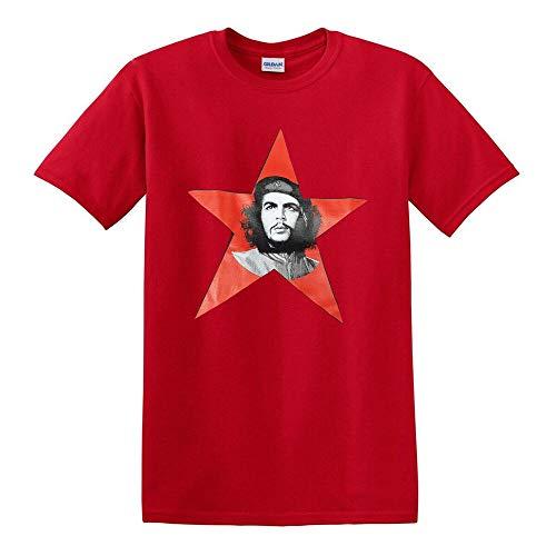 Che Guevara Star T-Shirt Silhouette Iconic Retro Political Revolution Cuba Mens Red-S