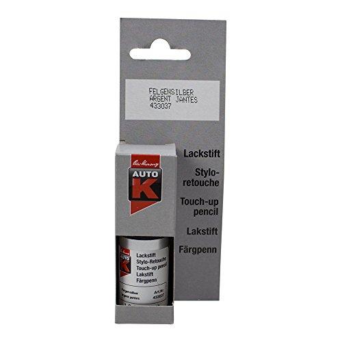 ARGENT JANTES (Stylo retouche 9 ml ) - Stylo de retouche de peinture pour utilisation tous supports.auto, moto, camping car et décoration maison