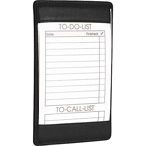 Royce Leather Note Jotter 704-5 Organizer,Black Leather