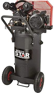 NorthStar Single-Stage Portable Electric Air Compressor - 2 HP, 20-Gallon Vertical, 5.0 CFM: image