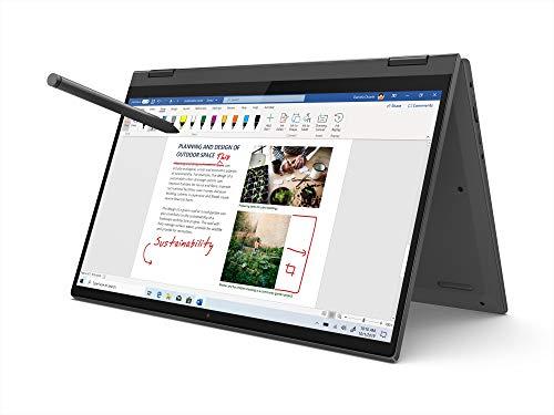 "Lenovo IdeaPad Flex 5 AMD Ryzen 5 4500U 14"" FHD IPS 2-in-1 Touchscreen Laptop (8GB/512GB SSD/Win 10/Office/AMD Radeon GFX/Lenovo Digital Pen Stylus/Fingerprint Reader/Graphite Grey/1.5Kg), 81X2004RIN"