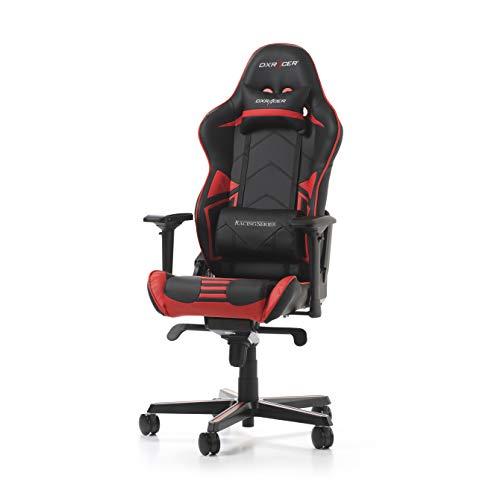 DXRacer (l'originale) Racing Pro R131 Sedia Gaming, Finta pelle, Nero & Rosso, 165-195 cm