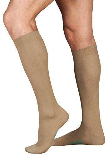 Juzo Baumwolle Unterstützung Knie Socke 15–20mmHg geschlossen Toe, ich, khaki von Juzo