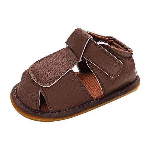 Hausschuhe Baby Boy Klett-Sandalen Babyschuhe Kleinkindschuhe Baby Schuhe Jungen 0-18 Monate Sommerkind Sandalen Hausschuhe Klettverschluss-Pwtchenty