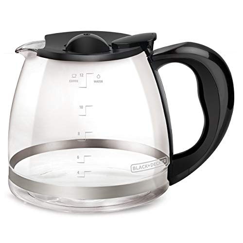BLACK+DECKER 12-Cup Replacement Carafe with Duralife Construction, Glass, GC3000B (Renewed)