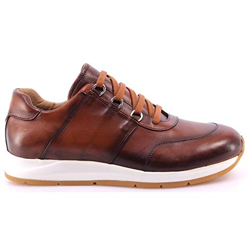 BOTTICELLI Heren Schoenen Sneakers Roberto Limited Vitello Antic Cognac Ervaring