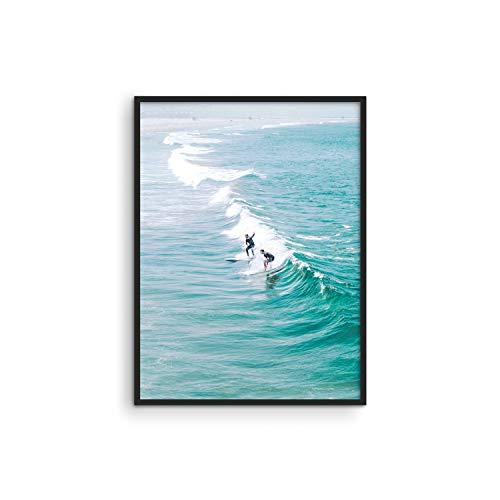 Póster de surf, decoración de playa – por Haus and Hues | Póster de surfista para la playa | Decoración de pared de playa |...