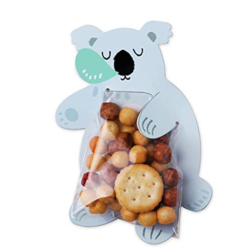 Toyvian 10 stücke Candy Treat Taschen Cute Cookie Kordelzug Geschenktüte mit Koala-Karte für Cookie Kuchen Praline Snack Verpackung Party Favors