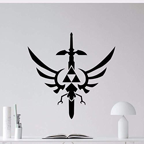 Die Legende Von Zelda Wandtattoo Triforce Symbol Vinyl Aufkleber Wohnkultur Wohnzimmer Klassisch Abnehmbares Schlafzimmer Aufkleber Poster D386 43 * 42Cm