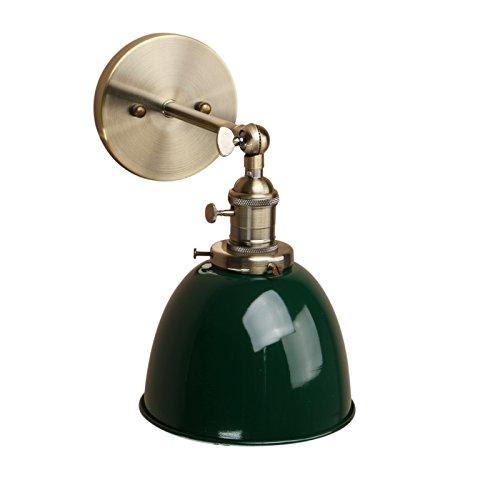 Pathson Antik Deko Design innen Wandbeleuchtung Wandleuchten Vintage Industrie Loft-Wandlampen Wandbeleuchtung Küchenwandleuchte (Dunkelgrün)