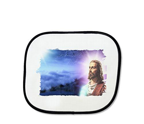 MERCHANDMANIA Parasol Jesucristo Hijo DE Dios Religion sunshield Coche