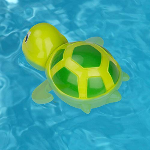 aovowog Baby Bath Toys Clockwork Turtle For Toddlers Boys Girls,Wind up Water Toys Swimming Turtle Summer Pool Bathroom Float Toy Best Child Plastic Bathtub