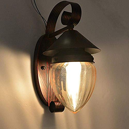 JIAWYJ YANGHHONG-lámpara de Pared- Chino Antiguo LED de Madera sólida Talla de Piel de Oveja Lado Creativo 315 mm de Grosor 90mm XBYSNWBD-2