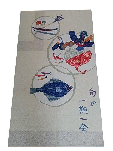 Icegrey Japans schilderij Japanse nerven gordijn & Doorway gordijn met trekstangen 85x150cm 85 x 150cm Eenmaal in het leven (Ichigo Ichie)
