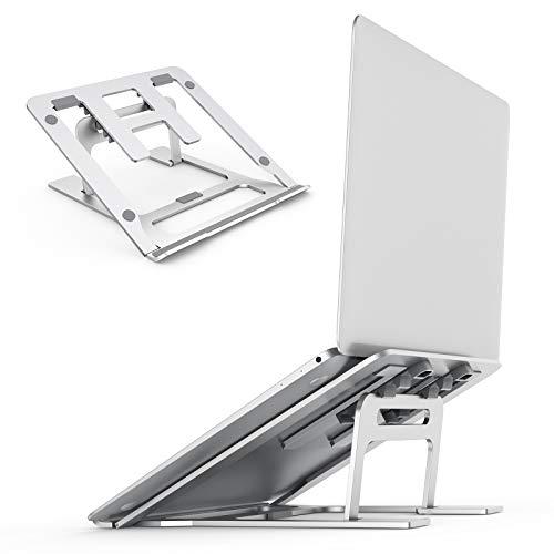 Kecow Laptop Ständer, Laptop Halterung 5 Höhen Höhenverstellbar Verschleißfest und rutschfest Geeignet für alle Tablets und Handys