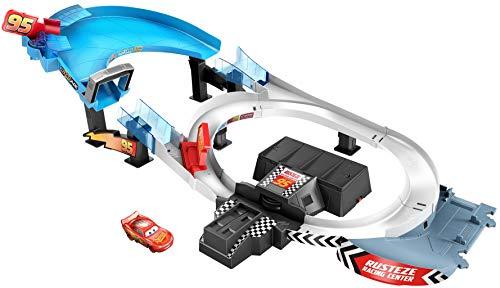 Disney Cars - Circuito Doble Rust-Eze, pista de coches de juguetes (Mattel GNW06)