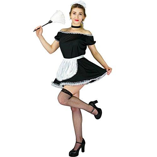 SEA HARE Costume da Cameriera Francese da Donna