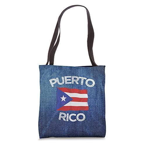 Puerto Rico Flag PROUD RICANS Heritage PR Family Familia Tote Bag