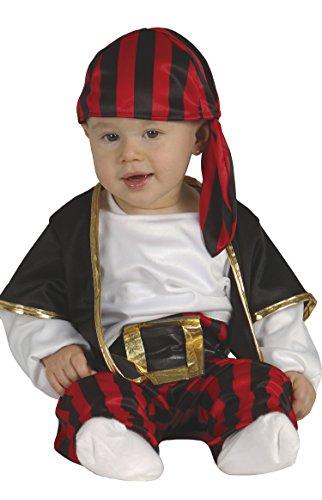 Guirca - Costume de pirate pour bébé 1 à 2 ans, rouge, noir, blanc, 85561