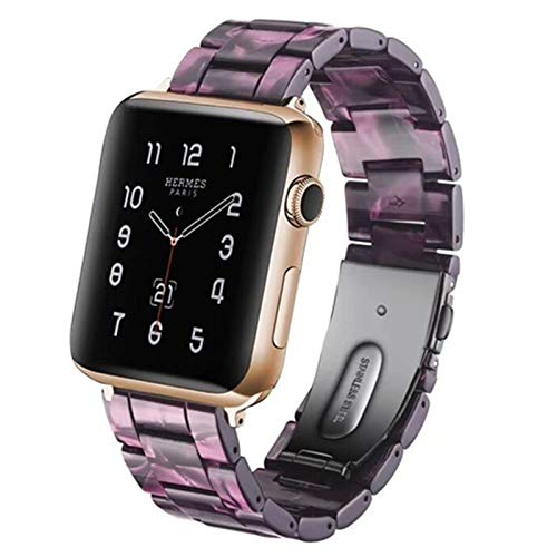 CMXXFA Resina Reloj Banda For De Watch 6 5 4 3 2 Transparente De La Pulsera De La Correa De Banda For De Watch Reemplazo Series 6 5 4 3 38 Mm 40 Mm 44 Mm 42 Mm