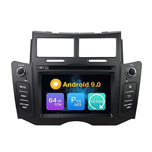 Android 9.0 Core PX5 4G RAM 64GB ROM Navigazione GPS Autoradio Lettore multimediale per autoradio Controllo del volante dell'unità radio principale Per TOYOTA YARIS 2005 2006 2007 2008 2009 2010 2011
