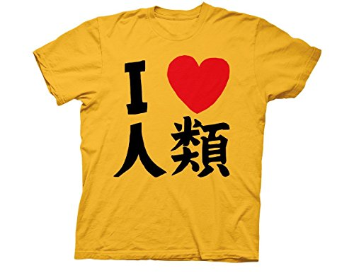 Ripple Junction No Game No Life Sora I Heart Humanity Adult T-Shirt Medium Gold