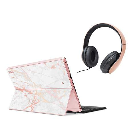 RCA (RCT6T06E13T14) 10.1' Artemis (2-in-1) Tablet with Detachable Keyboard - Tablet Accessory Bundle Included - (32GB, Rose Gold)
