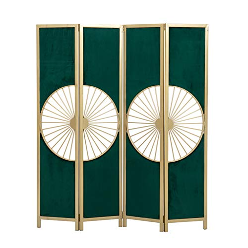 Best Deals! Even Entrance Simple Mobile Green Cutout Folding Room Divider,Modern Metal Fashion Decorative Design,