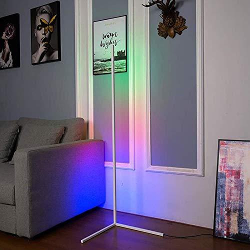 JAKROO Lámpara de pie LED Regulable Estilo Nórdico Atmósfera cálida Natural para Sala de Estar, Dormitorio, Sala de Juegos,Blanco