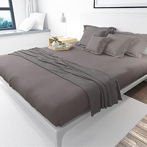 Fabriza 100% Egyptian Cotton 400 Thread Count Charcoal King Size Fitted...