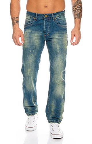 Rock Creek Herren Jeans Blau RC-2103A [W40 L30]