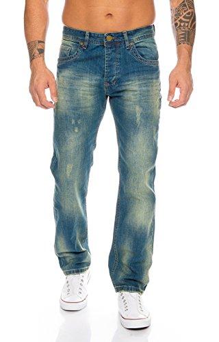 Rock Creek Herren Jeans Blau RC-2103A [W31 L32]