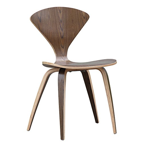 - Designer Modern Normen Chair Modern Wooden Side Chair Walnut