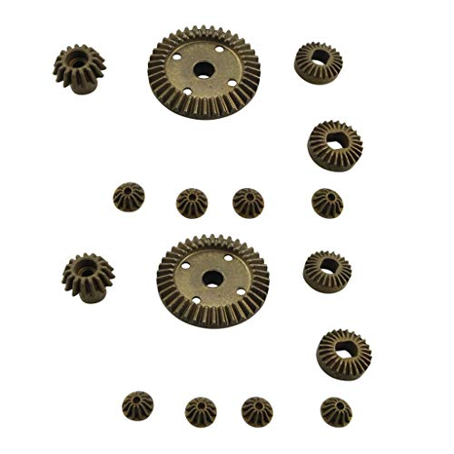 sea jump 12T 15T 24T 38T Metal Front and Rear Differential/Metal Gear Upgrade Accessories for 1:18 Wltoys A949 A959 A969 A979 184012 RC Car Upgrade Parts