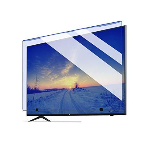 ASPZQ El Bloqueo Luz Azul Colgando Protector de La Pantalla, Pegar-Libre Resistencia Al Rayado Panel Filtros Luz Azul para TV 32 A 75 Pulgadas (Color : Light Yellow, Size : 43 Inch 952 * 549mm)