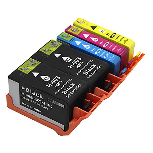 ZIJ Cartuchos de tinta 903XL de repuesto para impresora HP 903 XL compatible con HP Officejet Pro 6950 6970 6760 todo en uno (color: 2BK 3COLOR)