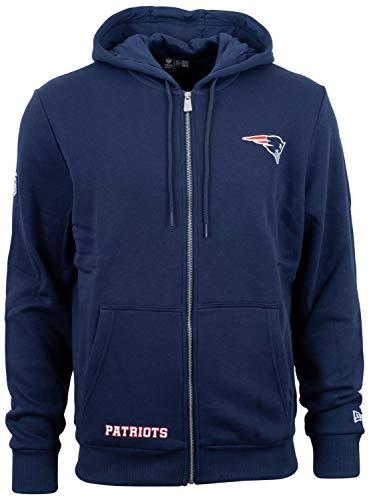 New Era - NFL New England Patriots Team Logo Full Zip Hoodie - Blau Größe S, Farbe Blau