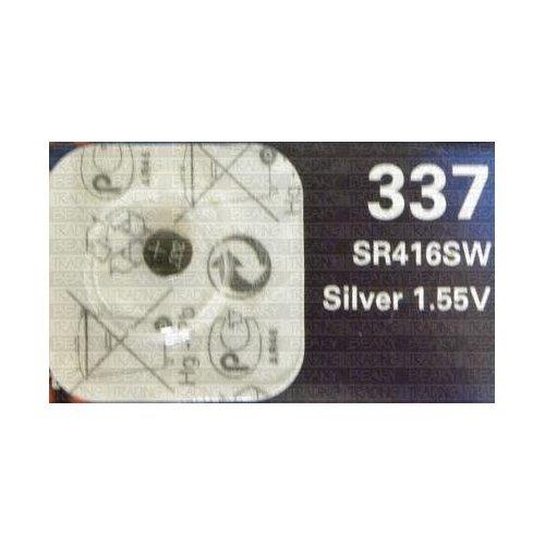 Renata 337 SR416SW SB-A5 Pile de montre en oxyde d'argent Sans mercure 1,55 V